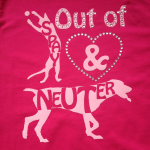 spay and neuter dames bling design